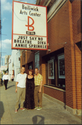Dan and Michael with Annie in Chicago, 1999